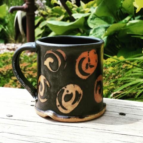 1black spiral mug